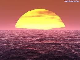 Tramonto sul mare, la calma nella rabbia
