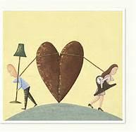 Coppia con cuore, mancanza di amore e rispetto